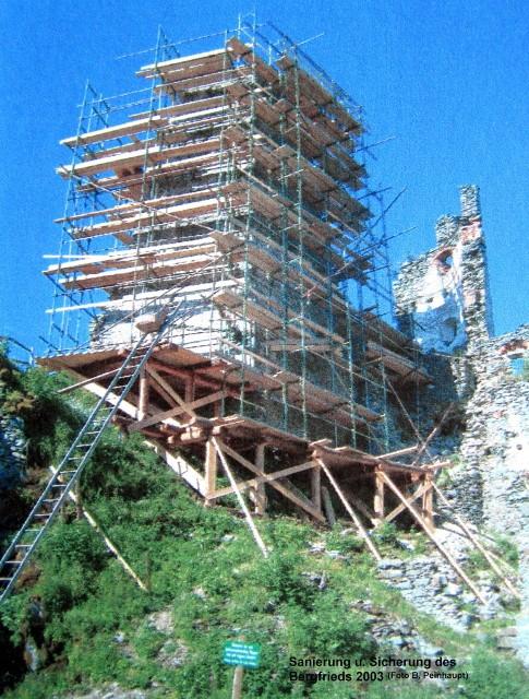 Sicherung und Sanierung Bergfried 2003
