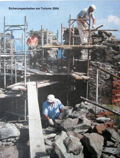 Sicherungsarbeiten Torturm 2004