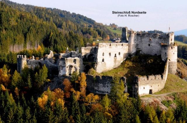 Nordseite der Burg