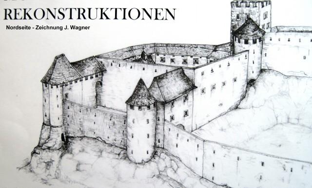 Nordseite der Burg (Rekonstruktion)